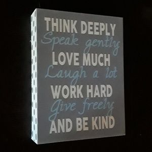 Inspirational wood  box sign